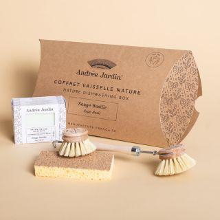 Andrée Jardin Natural Dishwashing Set Sage - Basil
