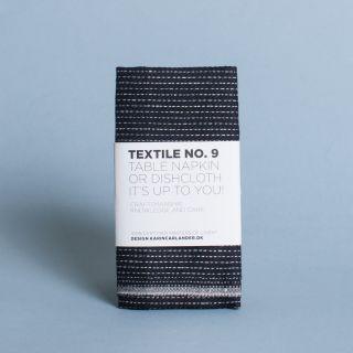 Karin Carlander - Textile No.9 Table Napkin or Dishcloth Zigzag Black