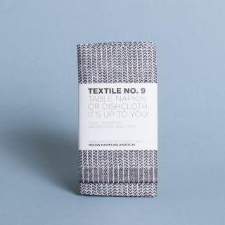 Karin Carlander - Textile No.9 Table Napkin or Dishcloth Yinyang Black/Wheat
