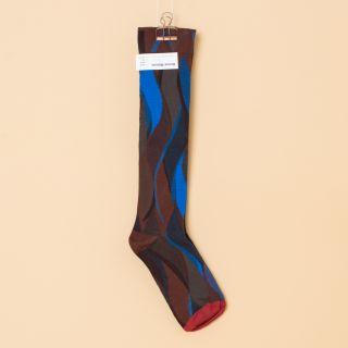 Bonne Maison Socks Knee-Highs Chestnut Flamme