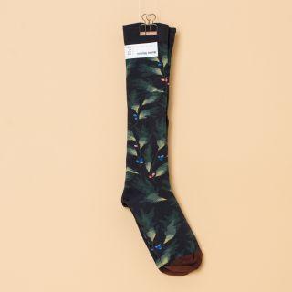Bonne Maison Socks Knee-Highs Dark Leaf