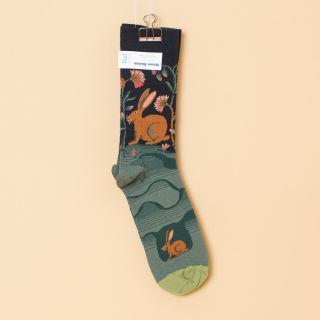 Bonne Maison Socks Dark Hare