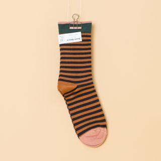 Bonne Maison Socks Caramel Stripe