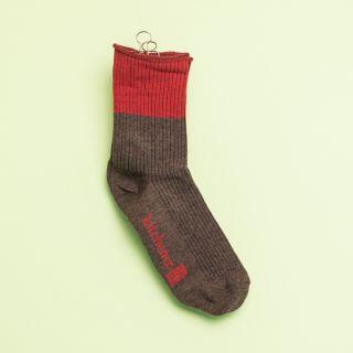 Kitchener Items Socks - Ribbed & Colourblock Nairobi Brown & Red