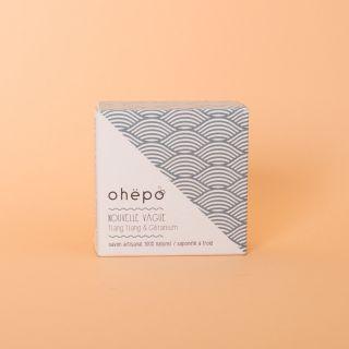 """OHËPO - """"Nouvelle Vague"""" Ylang Ylang & Geranium Soap 100g"""