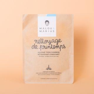 "Malou et Marius Charcoal Face Mask ""Nettoyage de Printemps"" Homme: Cleansing, Detoxifying & Purifying"