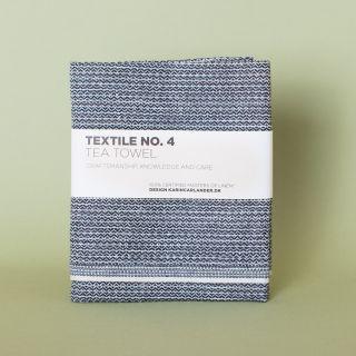 Textile No. 4 Tea Towel Sashiko Black 50 x 70 cm