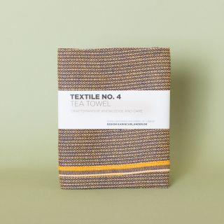 Textile No. 4 Tea Towel Zigzag Sienna 50 x 70 cm