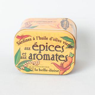 La Belle-Iloise Sardines à l'huile d'olive, aux épices et aux aromates - Lot de 5 boîtes