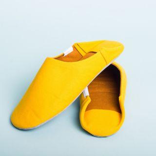Morihata ABE Canvas Home Shoes, Mustard
