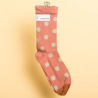 Bonne Maison Socks Red Ochre Polka Dot