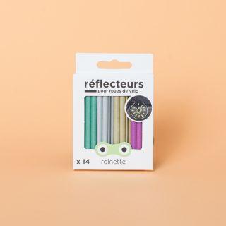 Rainette 12 Bicycle Spoke Reflectors Multicoloured