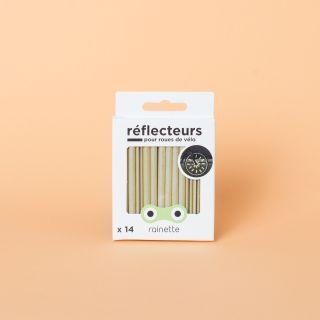 Rainette Bicycle Spoke Reflectors Gold