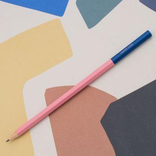 """Papier Tigre """"Crayon"""" Graphite Pencil Pink/Navy"""