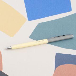 "Papier Tigre ""Stylo-Bille"" Ball Point Pen Straw/Concrete"