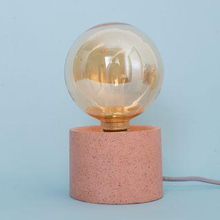 Les Pieds de Biche - La Lampe Pylone Granite - Terracotta Blanc