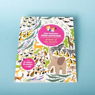 Animals of the savanna sticker book