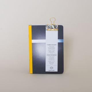Papier Tigre Carnets de Poche - MERCURY - 3 Pocket Notebooks with Clip