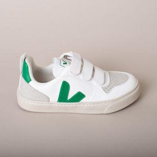 VEJA V-10 Velcro CWL White Emeraude Sneakers Kids