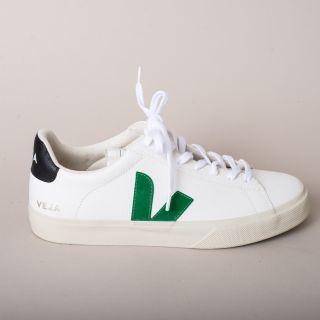 VEJA Campo Leather Extra White Emeraude Black Sneakers Mens