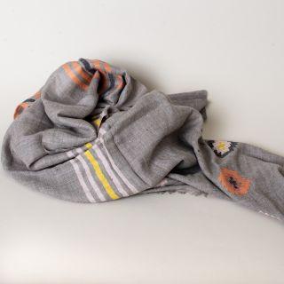 Himalayan Wool Scarf Gray