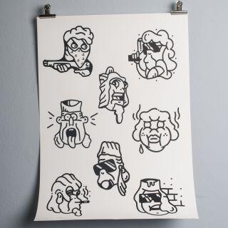FUZI Thug Icons Silkprint
