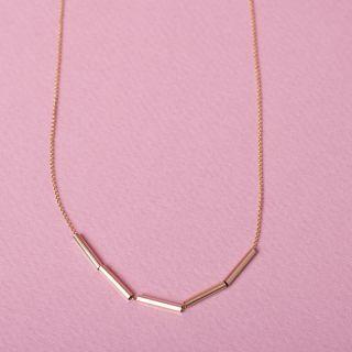 Nana Bijoux Geschliffene Goldtubes Necklace