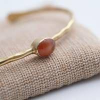 A Beautiful Story Moonlight Carnelian Gold Bracelet