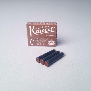 Kaweco Ink Cartridges 6-Pack Caramel Brown