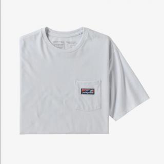 Patagonia Men's Boardshort Label Pocket Responsibili-Tee White