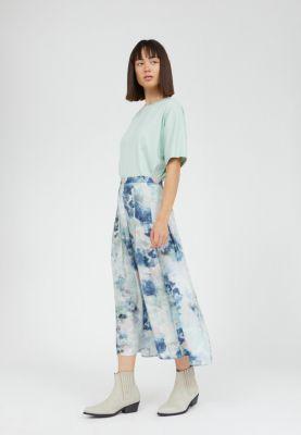 Armed Angels Leaah Watercollors Skirt Foggy Blue