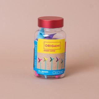 Mustard Origami Eraser Toppers Set Of 20