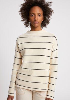 Armed Angels Medinaa Fine Stripes Shirt Oatmilk- Black