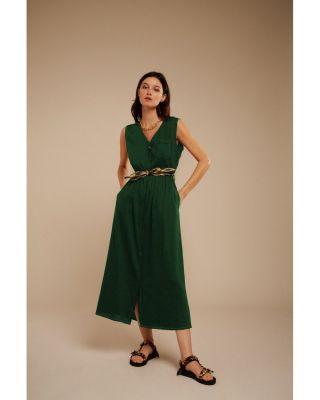 Chloé Stora Meribel Dress Vert