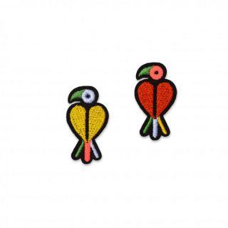 Macon & Lesquoy Cactus Mini Parakeets Badge