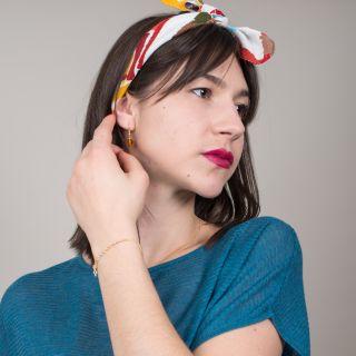 Nana Bijoux Bernsteinfarbene Glasperlen Earrings