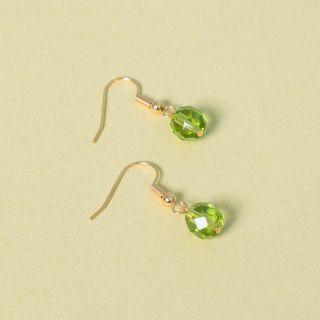 Nana Bijoux Gold Green Earrings