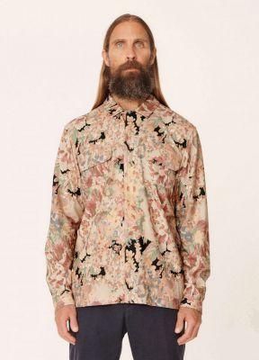 YMC Floral Feathers Cotton Viscose Shirt