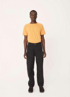 YMC Painter Man Cotton Twill Pinstripe Trousers Black