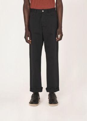 YMC Papa Cotton Twill Jeans Black