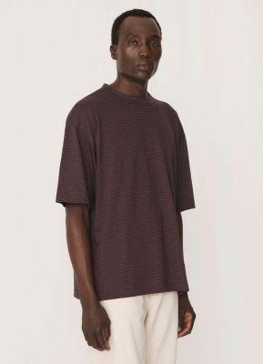 YMC Striped Triple Cotton Shirt Navy Red