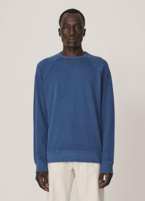 YMC Schrank Cotton Raglan Sweater Blue