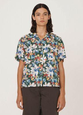 YMC Vegas Cotton Silk Floral Print Shirt Multi