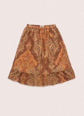 YMC Frida Cotton Dobby Paisley Print Skirt Multi