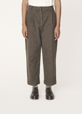 YMC Market Cotton Paisley Jacquard Trousers Olive