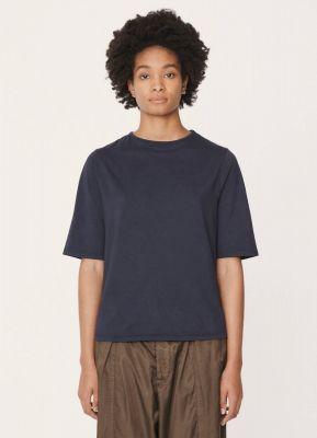 YMC Carlota Cotton Jersey Shirt Navy Blue