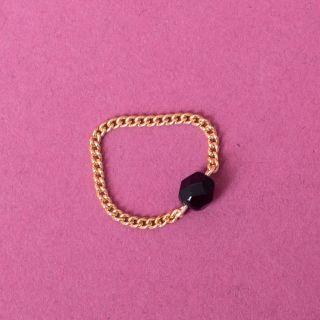 Nana Bijoux Schwarzer Quarzkristall Ring