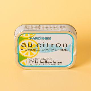 La Belle-Iloise Sardines à l'huile d'arachide et au citron
