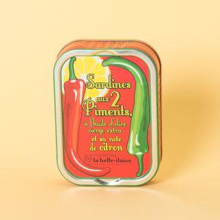 La Belle-Iloise Sardines aux deux piments et sa note de citron