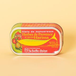 La Belle-Iloise Filets de maquereaux herbes de Provence et épices Harissa
